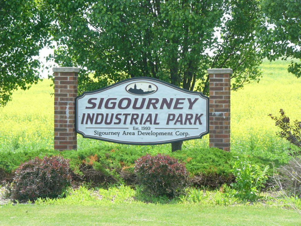 Sigourney Area Development Corp Industrial Park signage